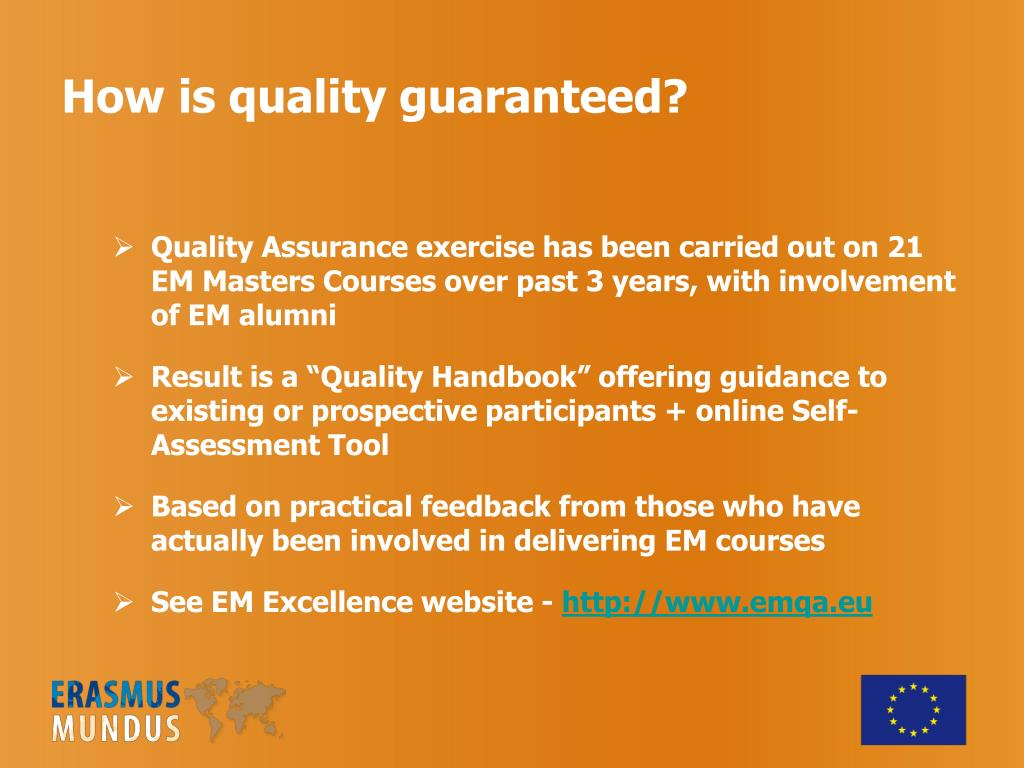 How is quality guaranteed?