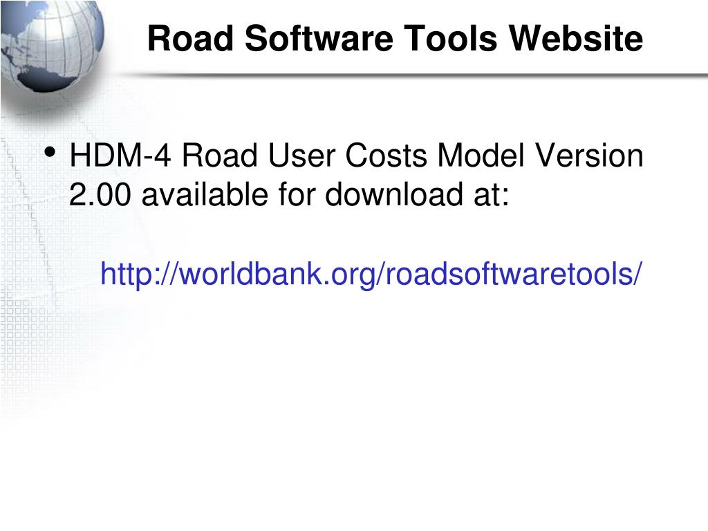Road Software Tools Website