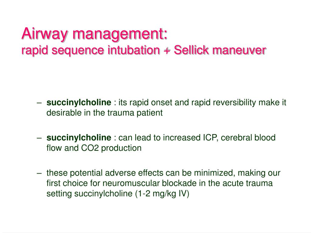Airway management: