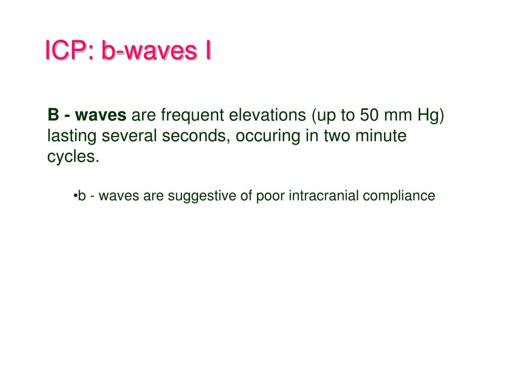 ICP: b-waves I