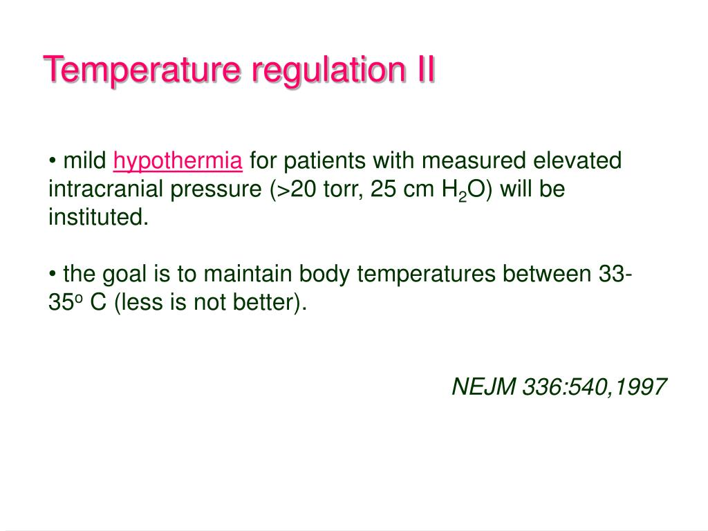 Temperature regulation II