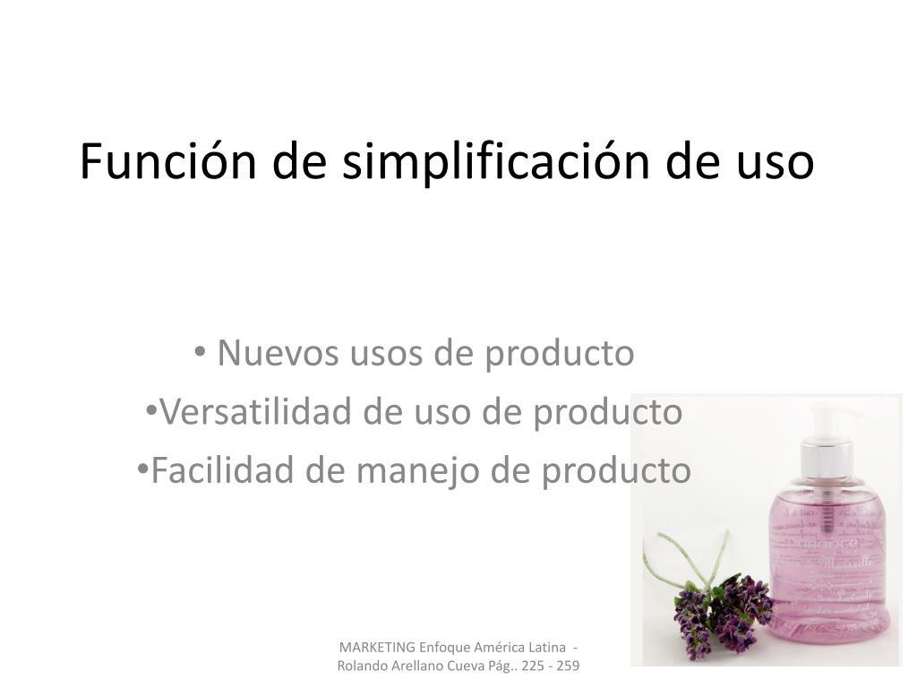 Función de simplificación de uso