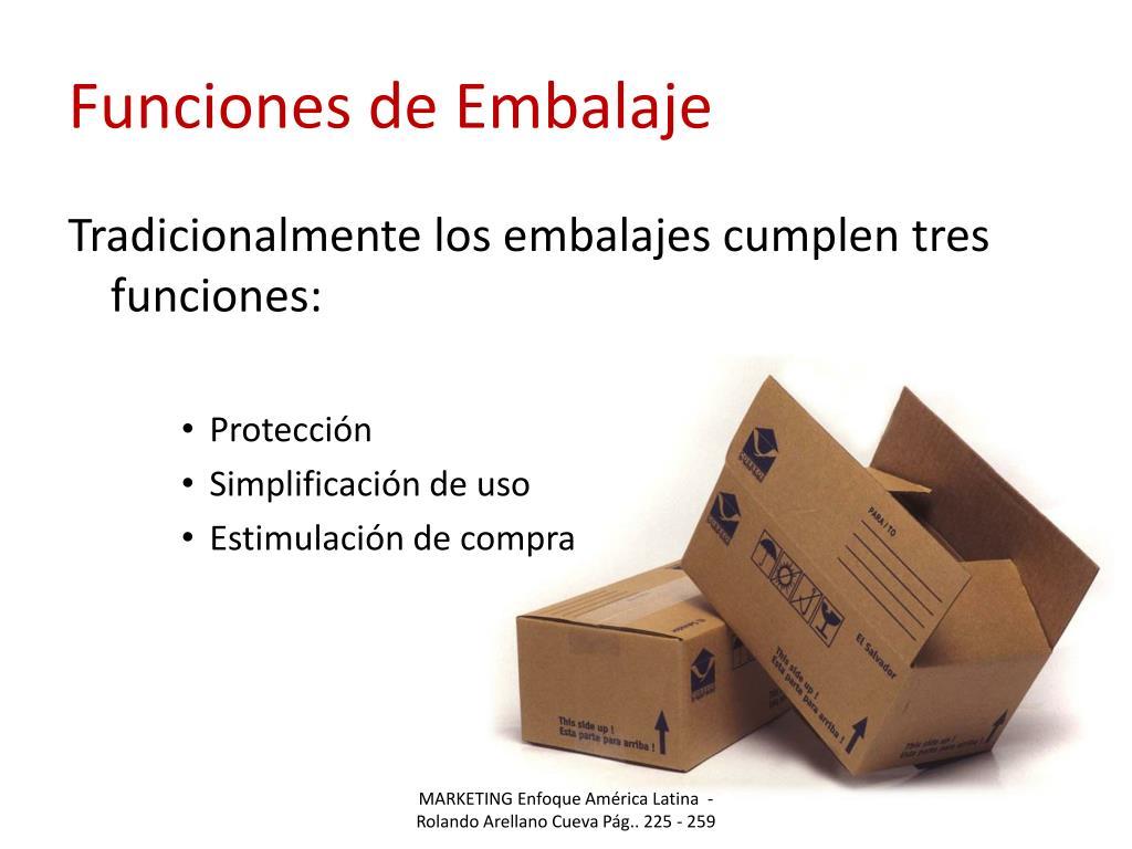 Funciones de Embalaje