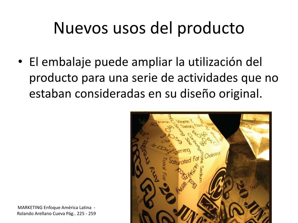Nuevos usos del producto