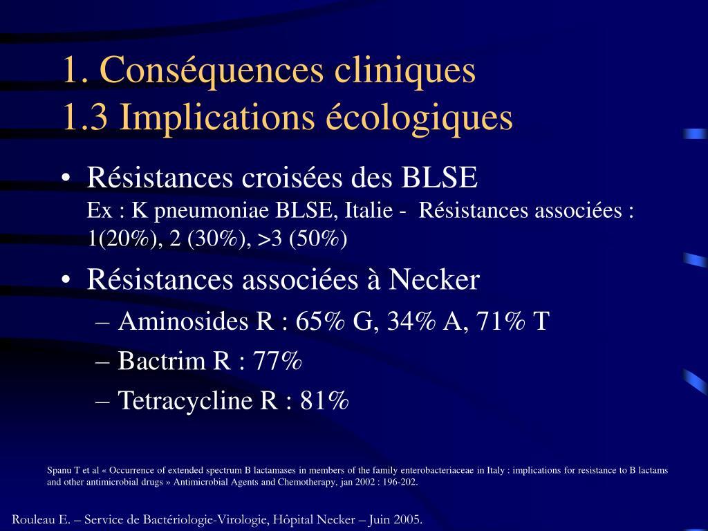 1. Conséquences cliniques