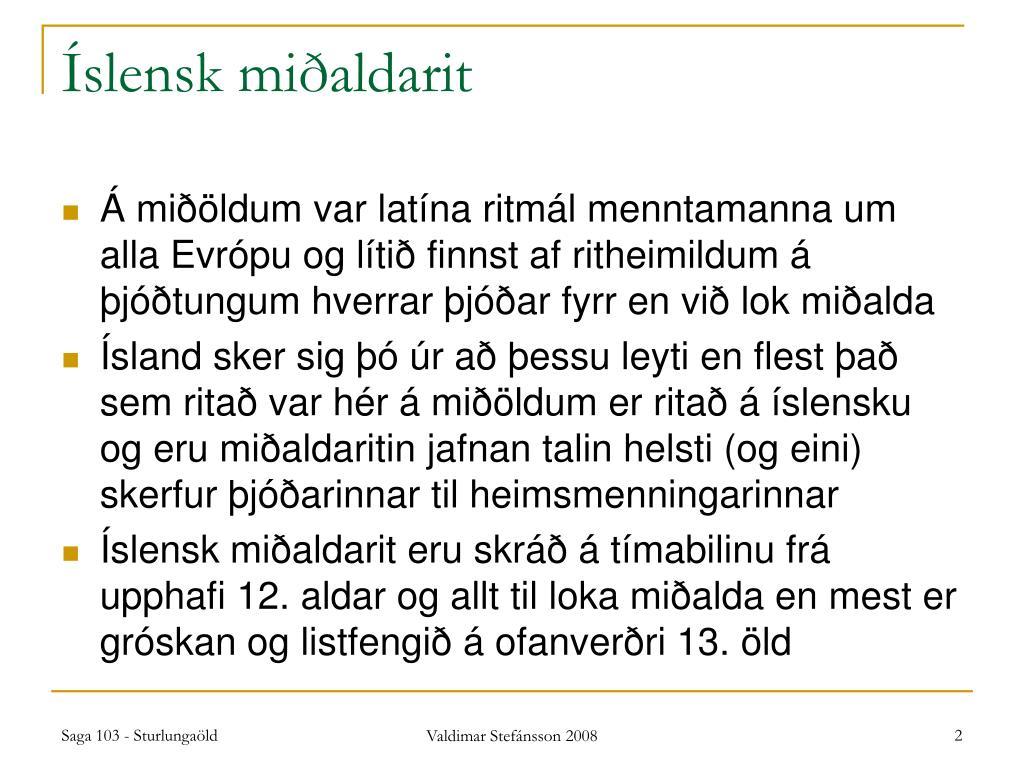 Íslensk miðaldarit