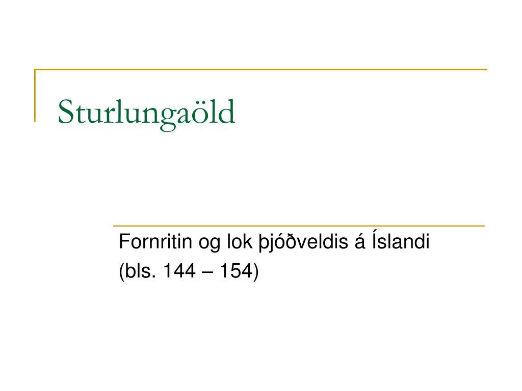 Sturlungaöld