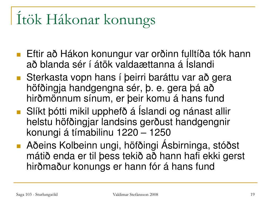 Ítök Hákonar konungs