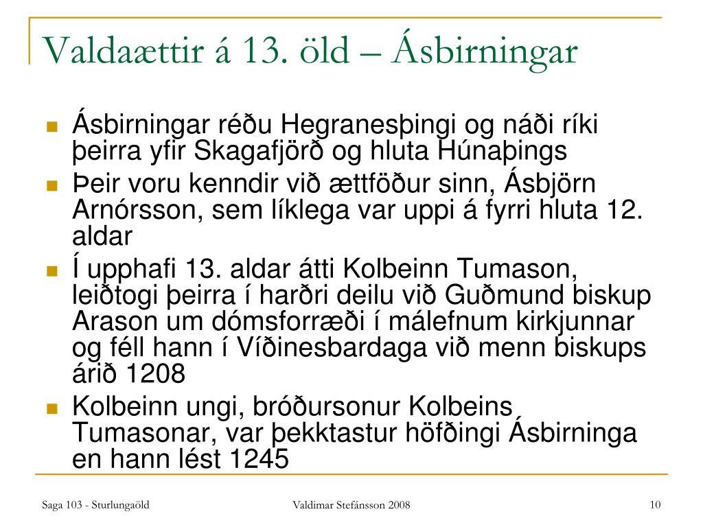 Valdaættir á 13. öld – Ásbirningar