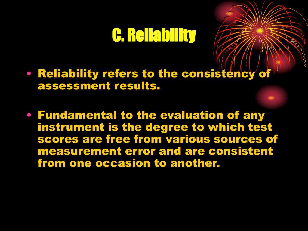 C. Reliability