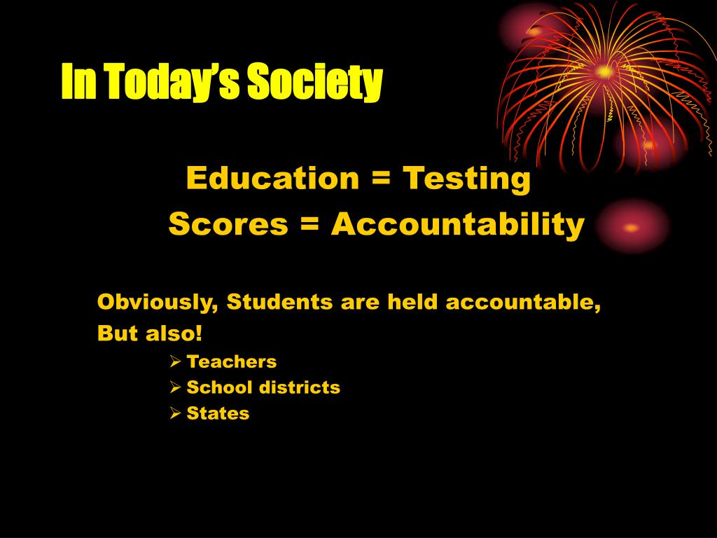 In Today's Society