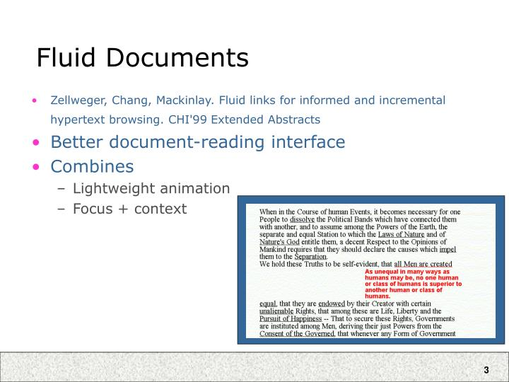 Fluid documents