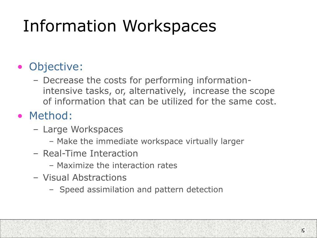 Information Workspaces