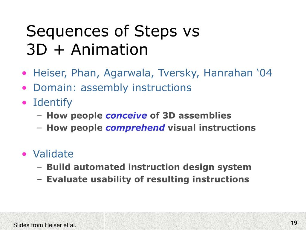 Sequences of Steps vs