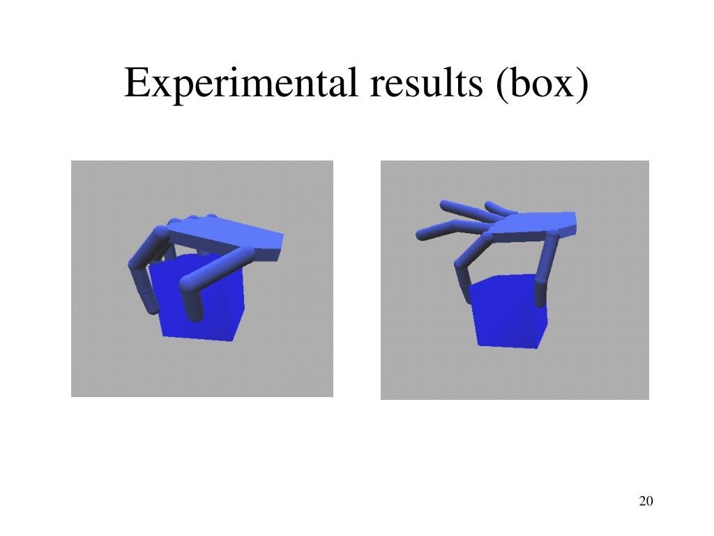 Experimental results (box)