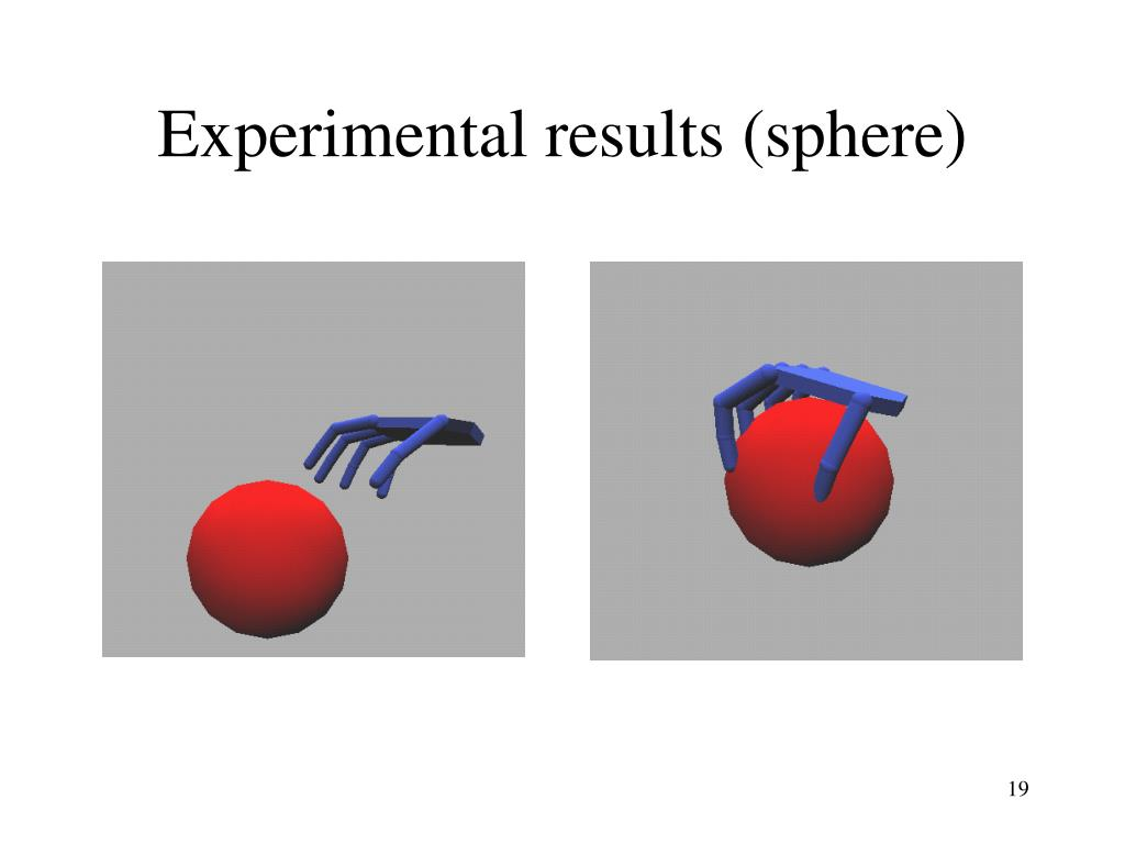 Experimental results (sphere)