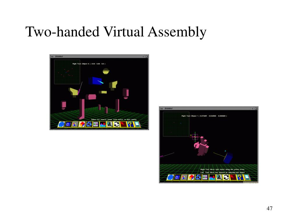 Two-handed Virtual Assembly