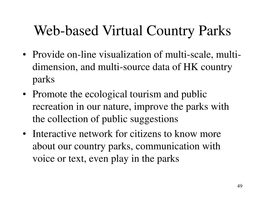 Web-based Virtual Country Parks