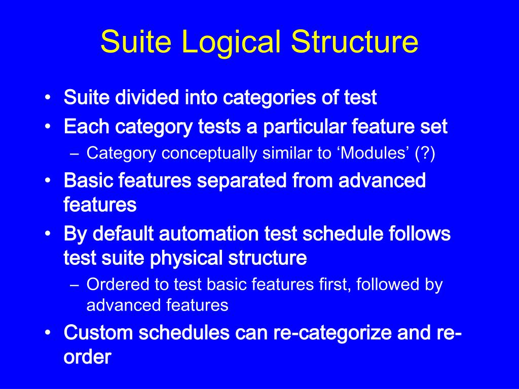 Suite Logical Structure