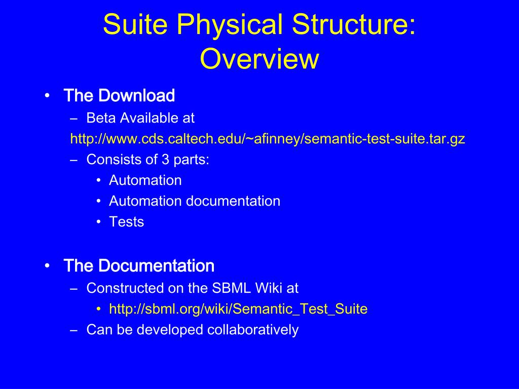 Suite Physical Structure: Overview