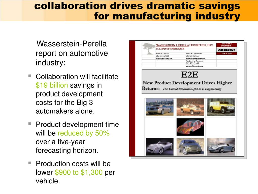 collaboration drives dramatic savings for manufacturing industry