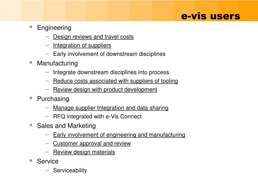 e-vis users