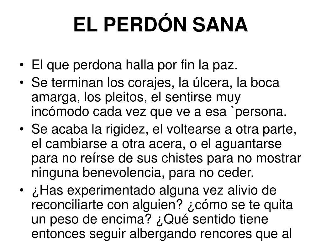 EL PERDÓN SANA