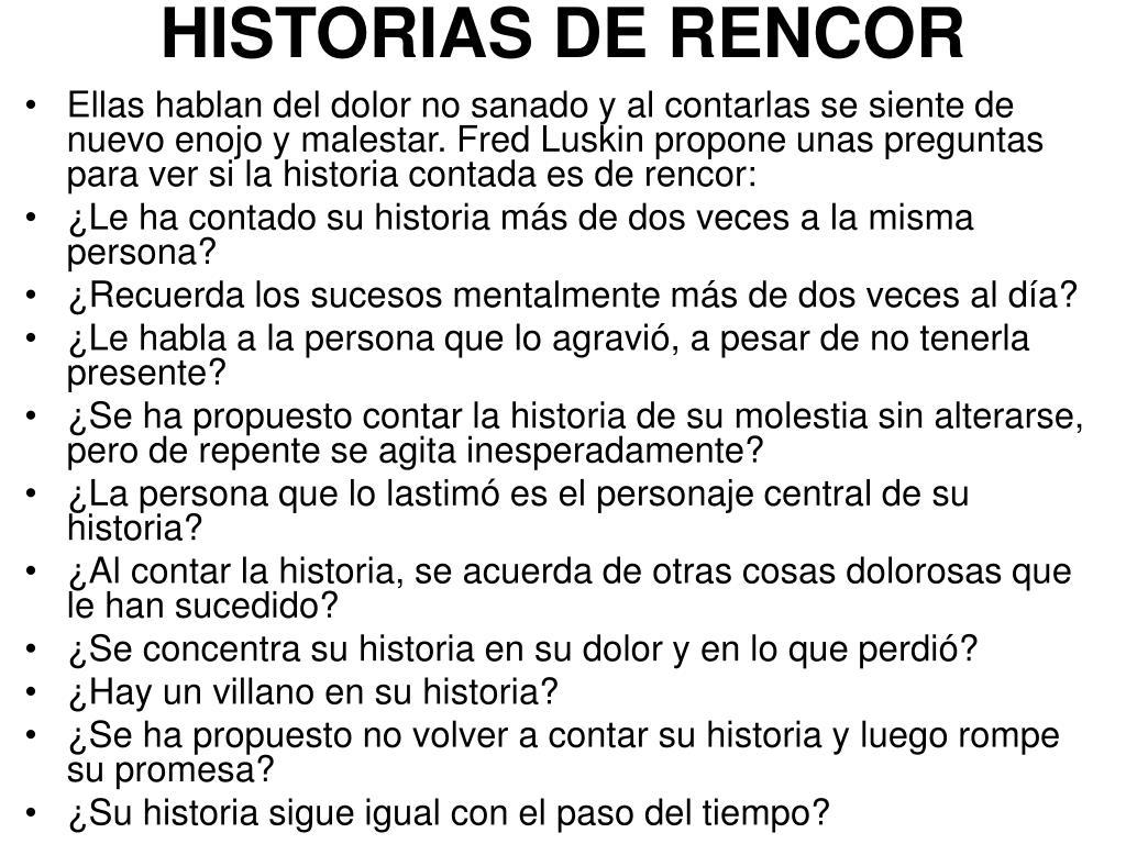 HISTORIAS DE RENCOR