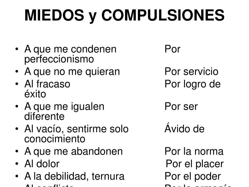 MIEDOS y COMPULSIONES