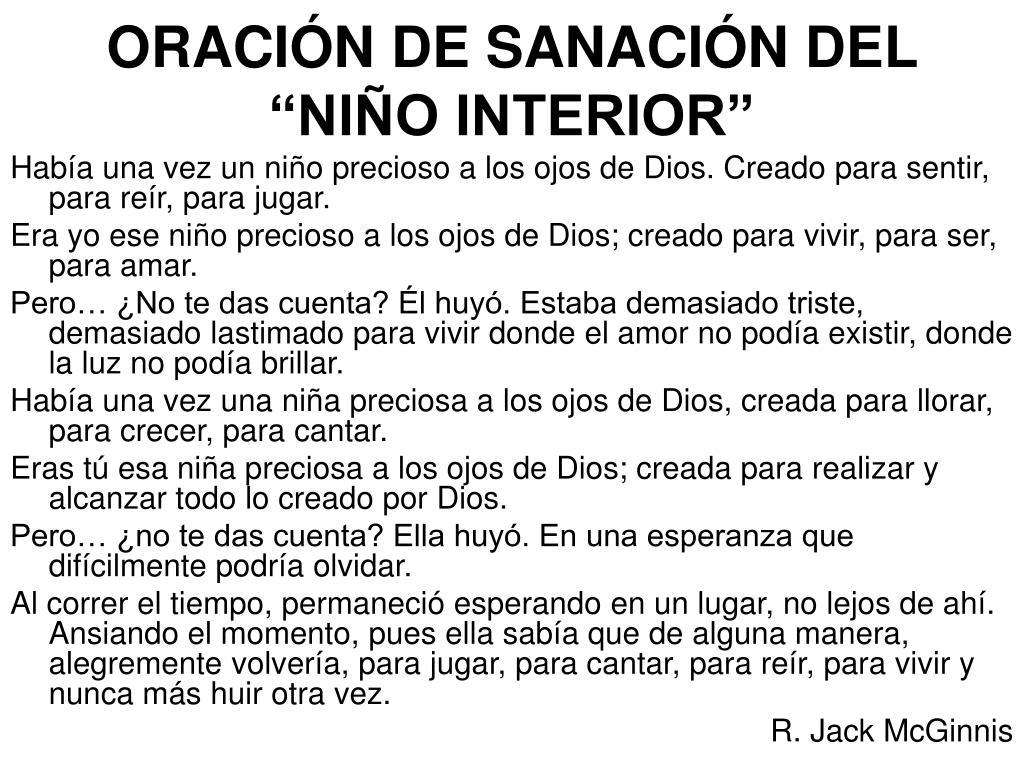 """ORACIÓN DE SANACIÓN DEL """"NIÑO INTERIOR"""""""