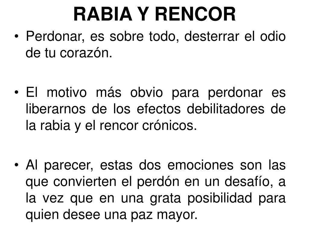 RABIA Y RENCOR