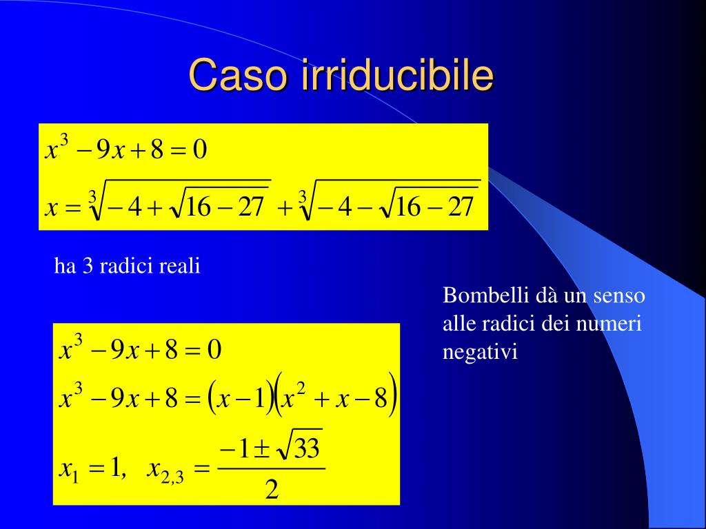 Caso irriducibile