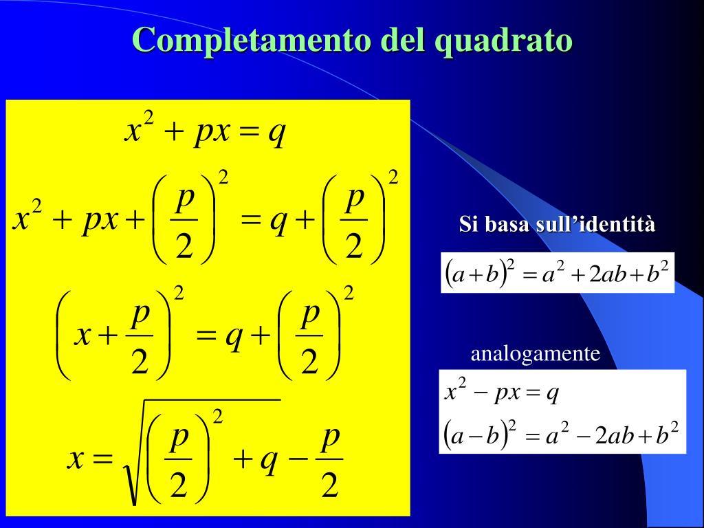 Completamento del quadrato