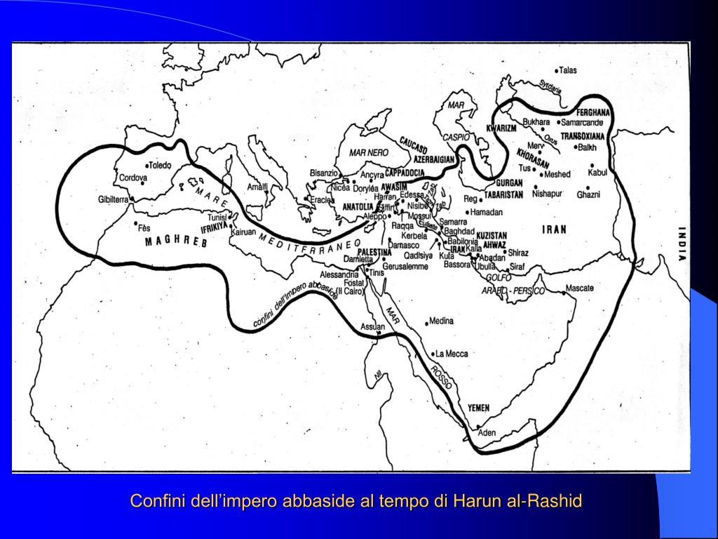 Confini dell'impero abbaside al tempo di Harun al-Rashid