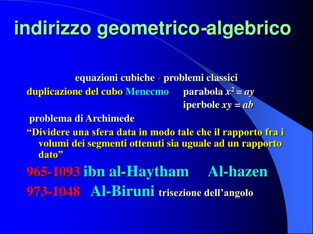indirizzo geometrico