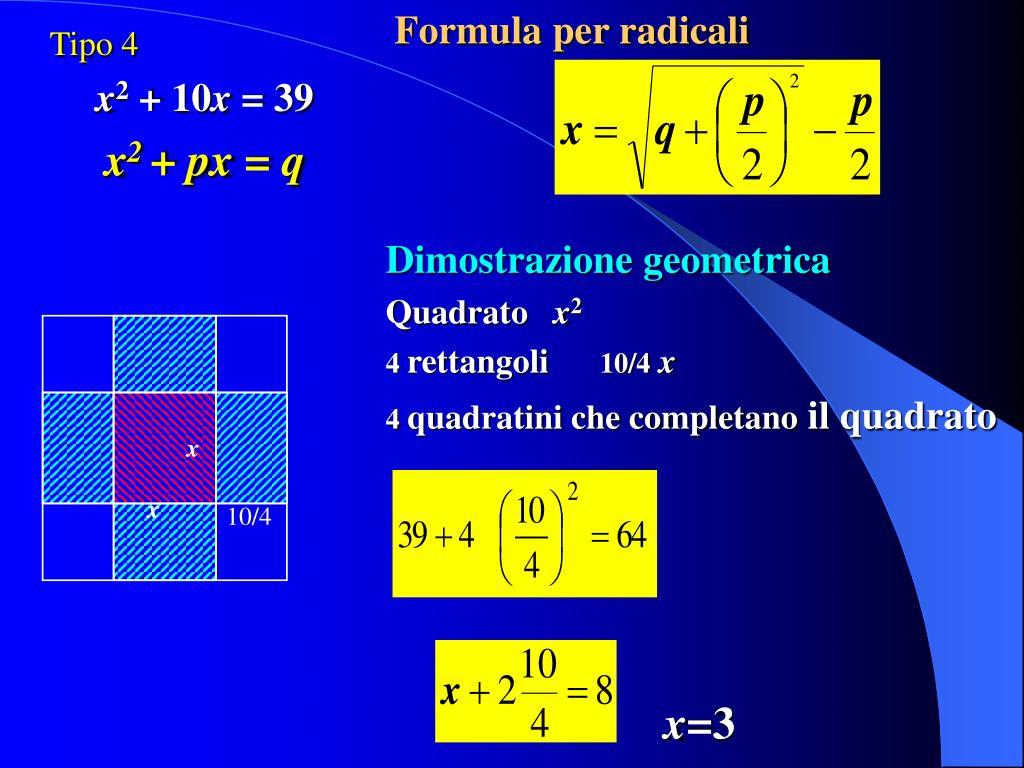 Formula per radicali