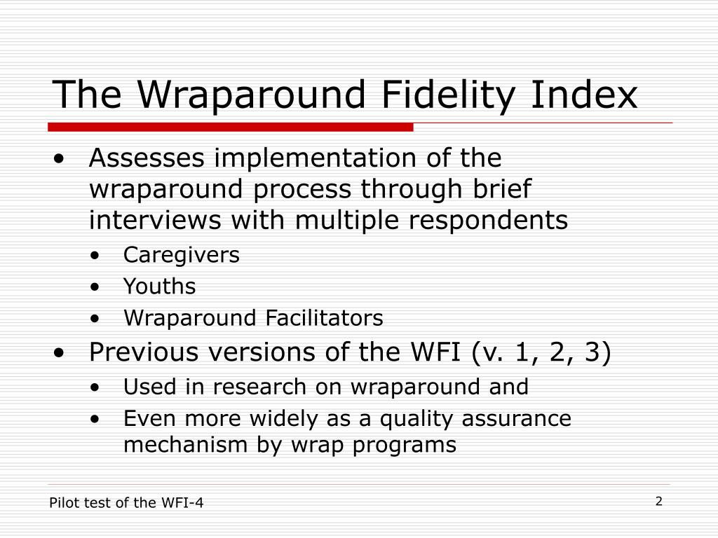 The Wraparound Fidelity Index