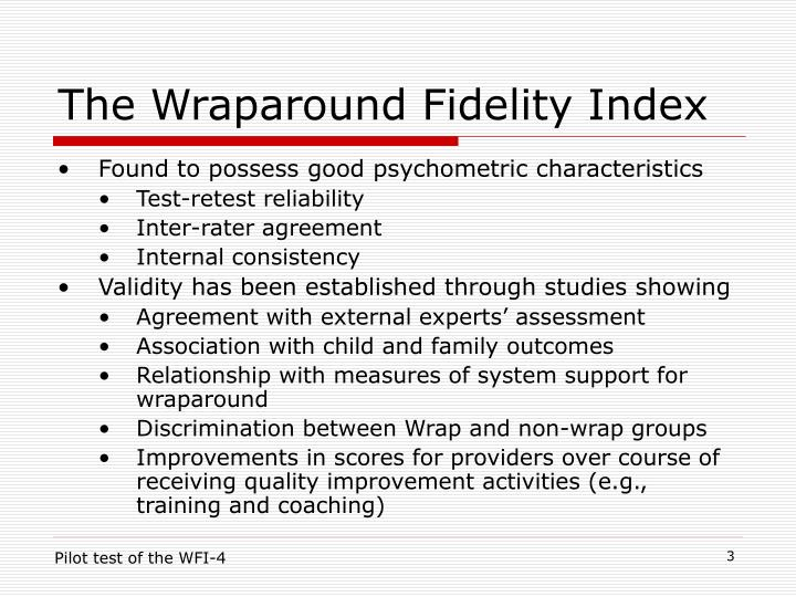 The wraparound fidelity index3