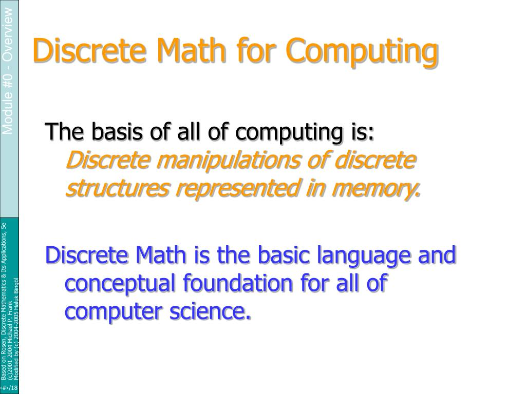 Discrete Math for Computing