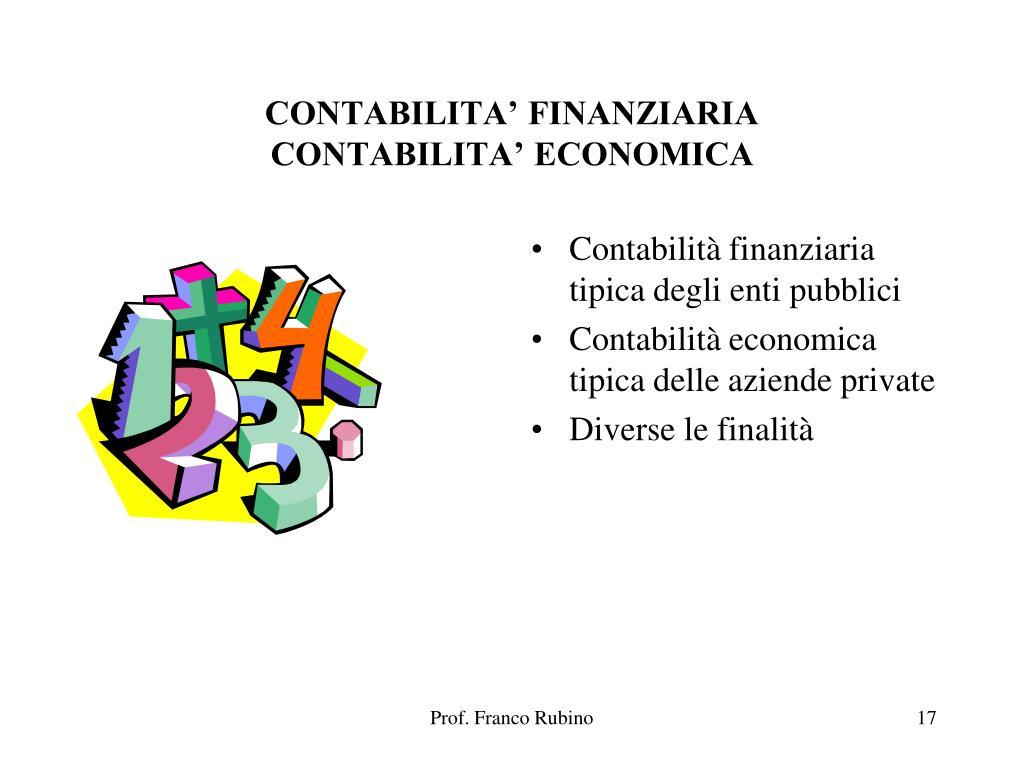CONTABILITA' FINANZIARIA