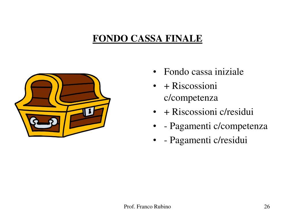 FONDO CASSA FINALE