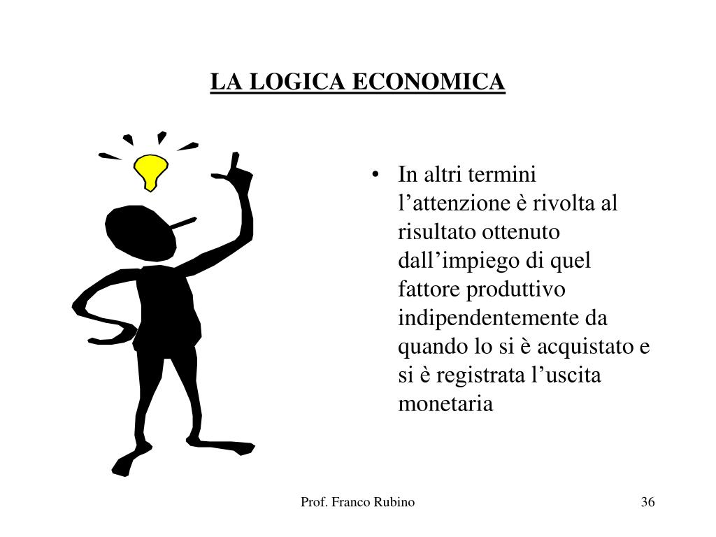 LA LOGICA ECONOMICA