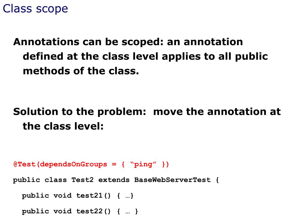 Class scope