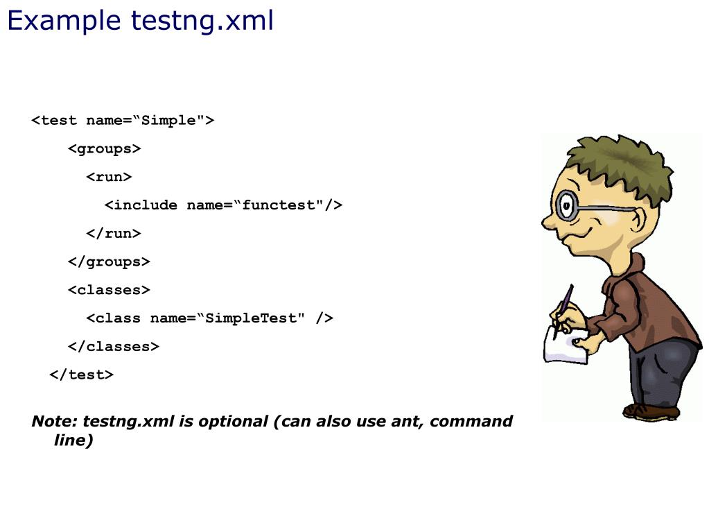 Example testng.xml
