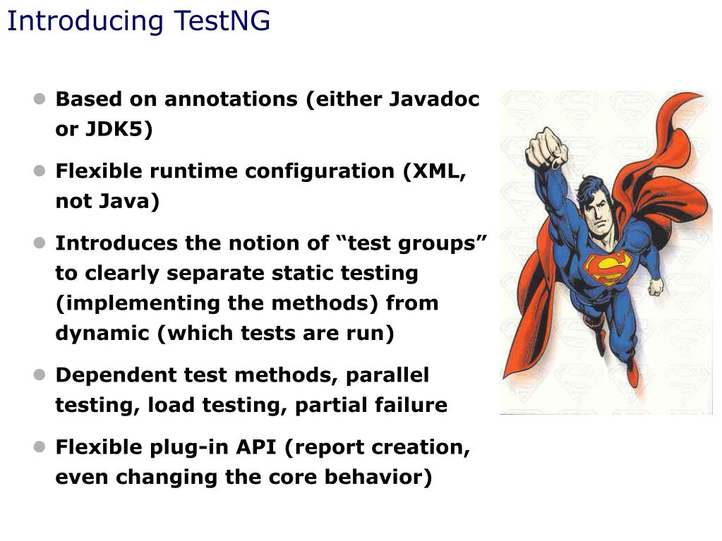 Introducing TestNG
