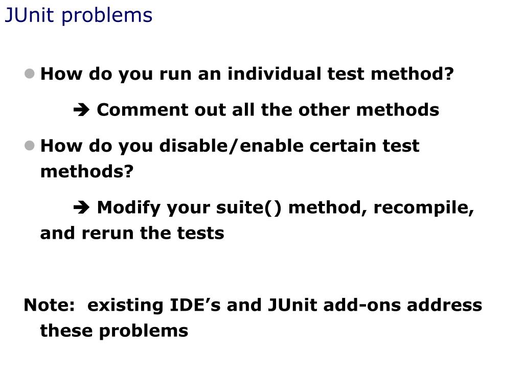 JUnit problems
