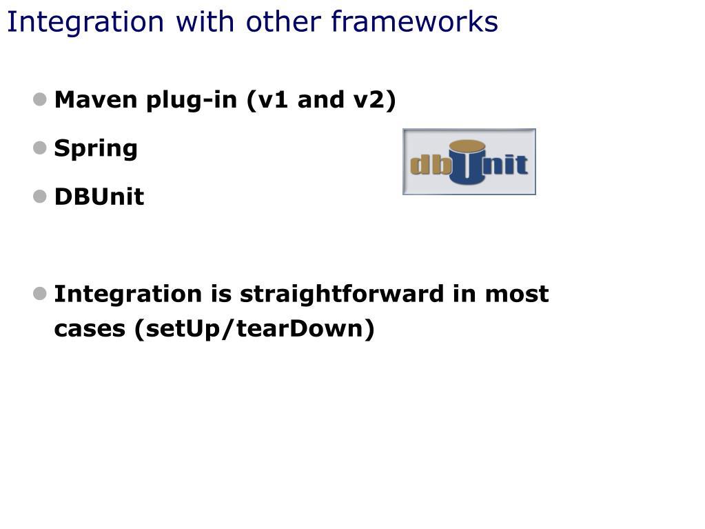 Integration with other frameworks