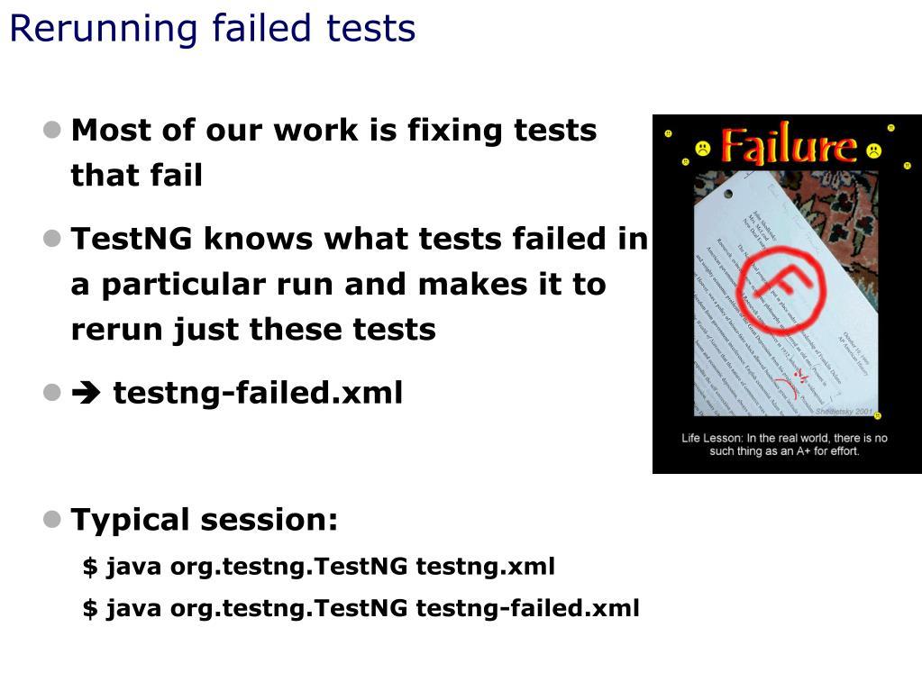 Rerunning failed tests
