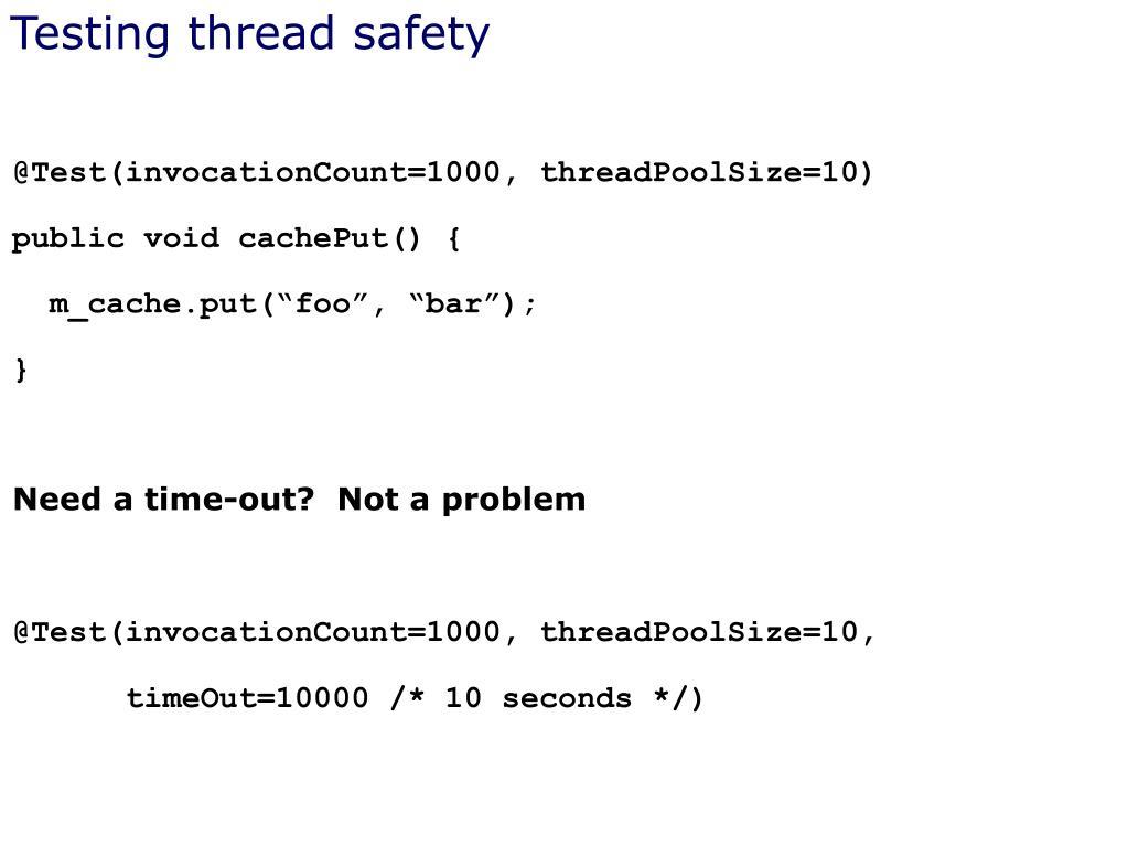Testing thread safety