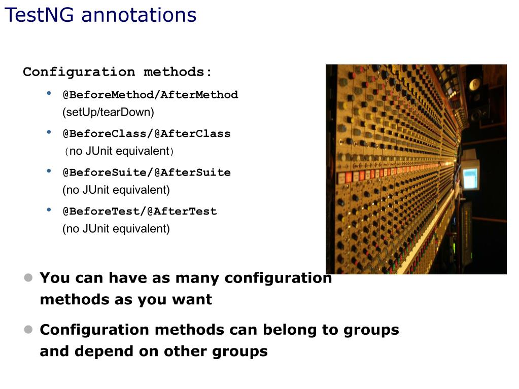 TestNG annotations